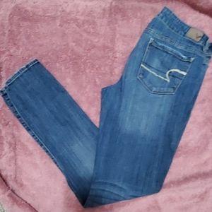 AEO skinny stretch jeans - 10 long